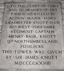 Memorial stone at St George's Memorial Church, Ypres, Belgium