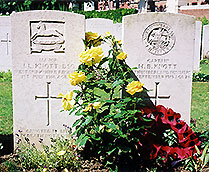 Graves of two sons at Ypres